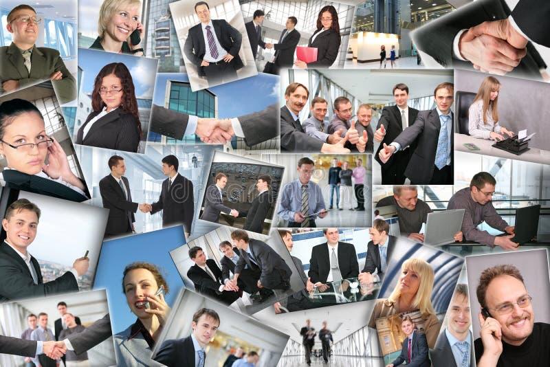 Molte maschere di affari, collage immagine stock libera da diritti