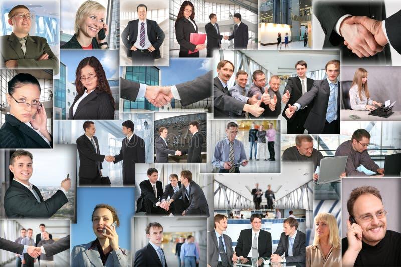 Molte maschere di affari, collage fotografia stock libera da diritti