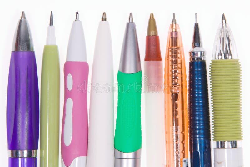 Molte molte penne fotografia stock libera da diritti