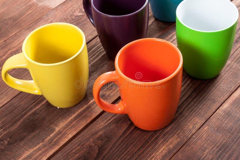 Molte tazze di tè fotografia stock