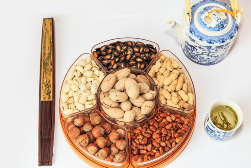 Molte varietà di frutta secca immagine stock