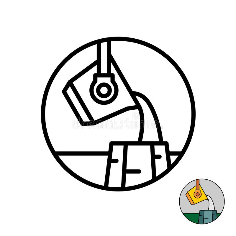 Free Molten Metal Industry Logo. Liquid Iron Or Steel Symbol. Metallurgy Mold Casting Icon. Royalty Free Stock Photos - 172774098