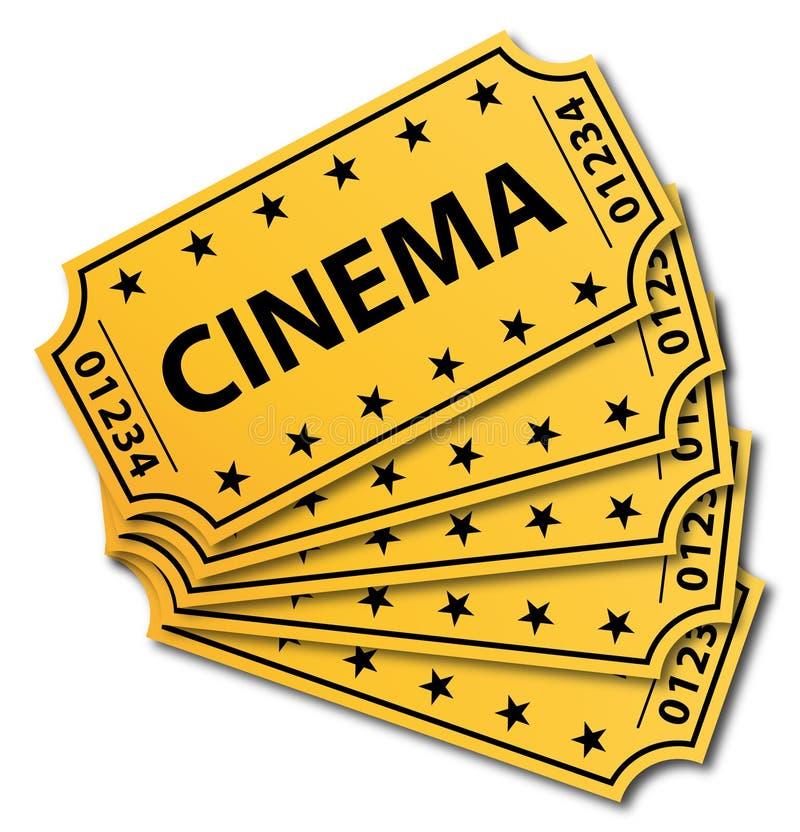Molti biglietti del cinematografo. illustrazione di stock