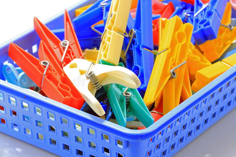 Molti clothespins immagine stock libera da diritti