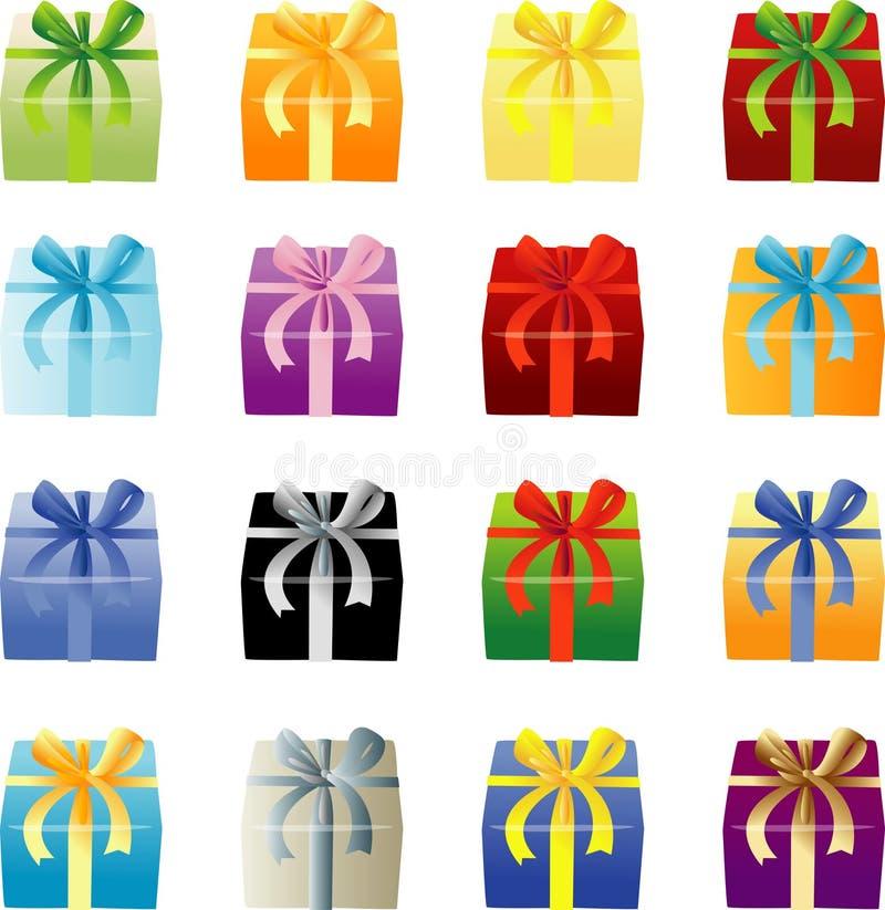 Molti colorano Giftboxes fotografia stock libera da diritti