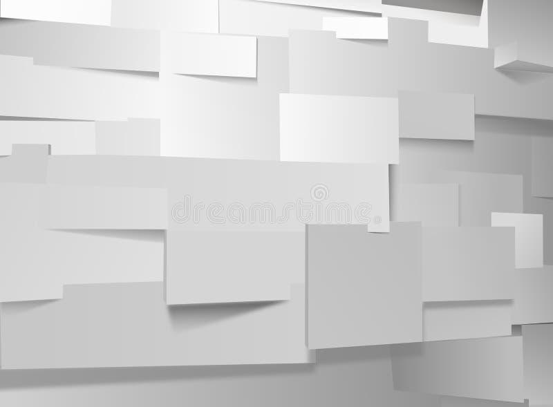 Molti cubi del carbone Carta da parati stereoscopica della foto per l'interno rappresentazione 3d illustrazione di stock