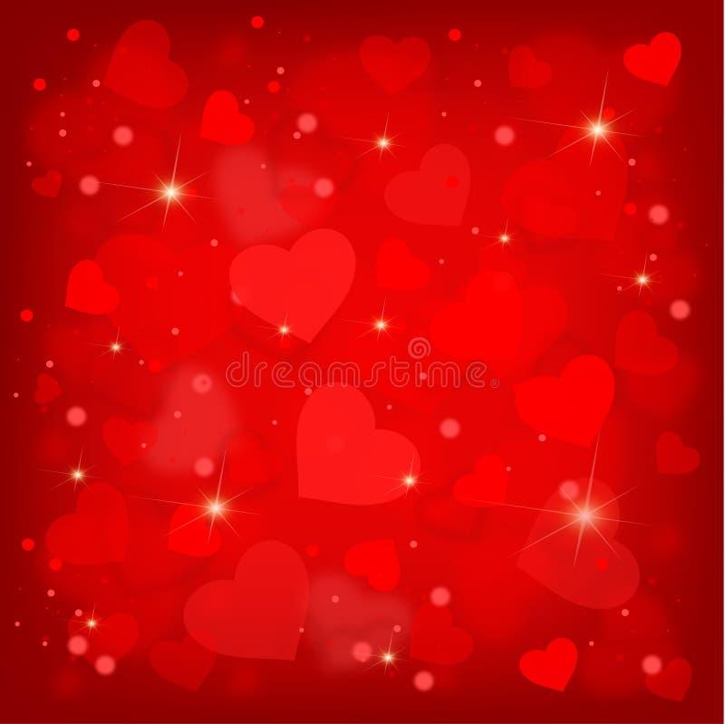 Molti cuori del biglietto di S. Valentino grazioso royalty illustrazione gratis