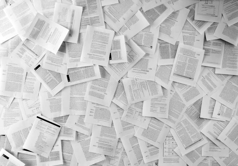 Molti documenti di affari immagini stock