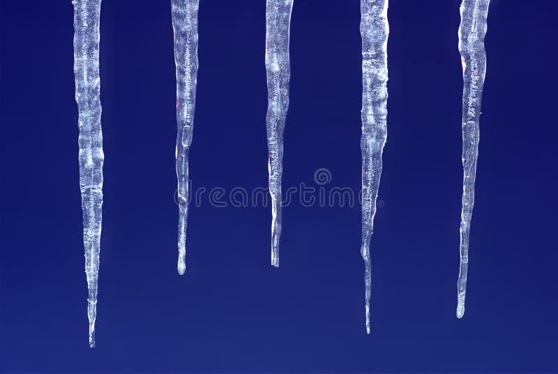 Molti ghiaccioli fotografia stock