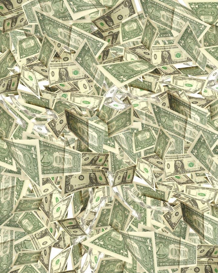 Molto collage di caduta del dollaro illustrazione di stock