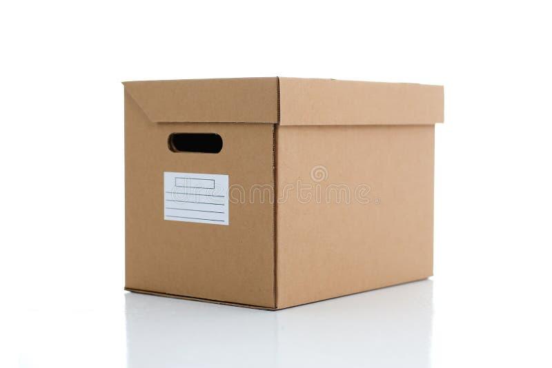 Molto contenitore di cartone di colore di Kraft fotografie stock