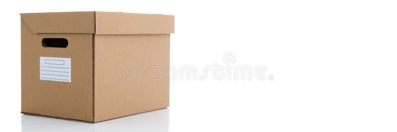 Molto contenitore di cartone di colore di Kraft immagine stock libera da diritti