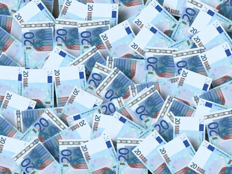 Molto euro fotografie stock libere da diritti