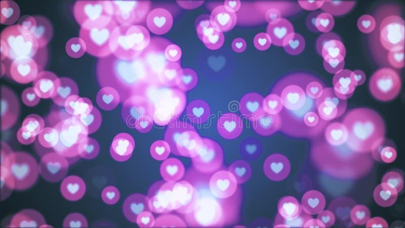 Molto forma del cuore come la festa allegra variopinta dinamica universale dell'illustrazione dell'icona qualità unica casuale de illustrazione di stock