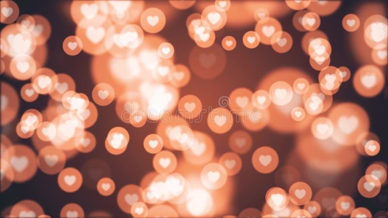 Molto forma del cuore come la festa allegra variopinta dinamica universale dell'illustrazione dell'icona qualit? unica casuale de royalty illustrazione gratis
