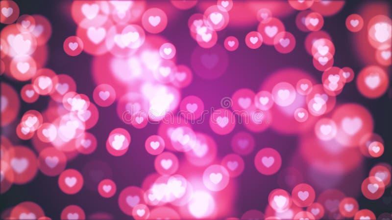 Molto forma del cuore come la festa allegra variopinta dinamica universale dell'illustrazione dell'icona qualit? unica casuale de illustrazione vettoriale