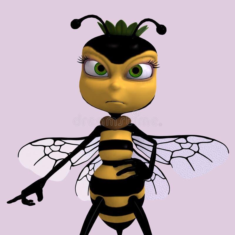 Molto il dolce rende di un ape del miele nel colore giallo e in bla illustrazione vettoriale