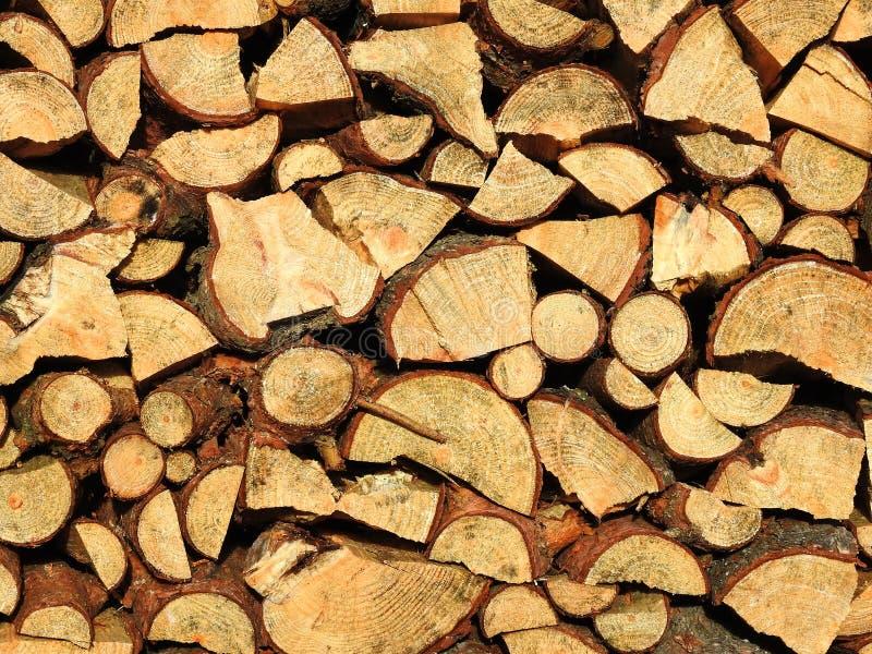 Molto la legna da ardere, può usare come fondo immagine stock