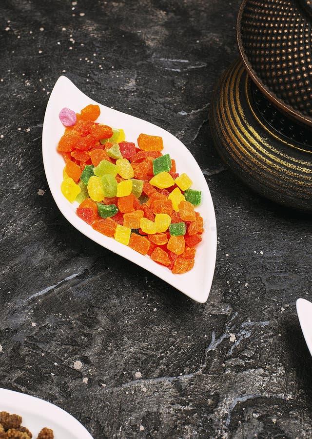 Molto marmelade succoso colorato dolce della gelatina fotografia stock