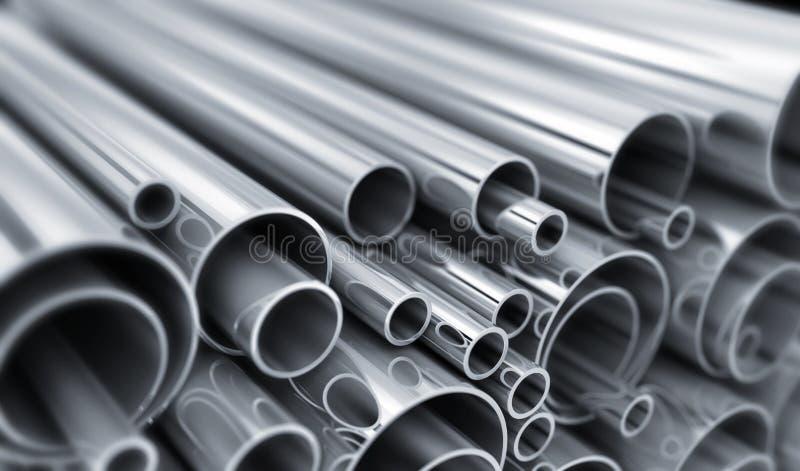 Molto tubo d'acciaio illustrazione vettoriale