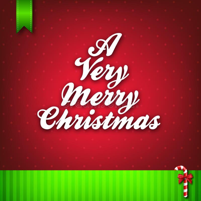 Molto una cartolina d'auguri di Buon Natale royalty illustrazione gratis