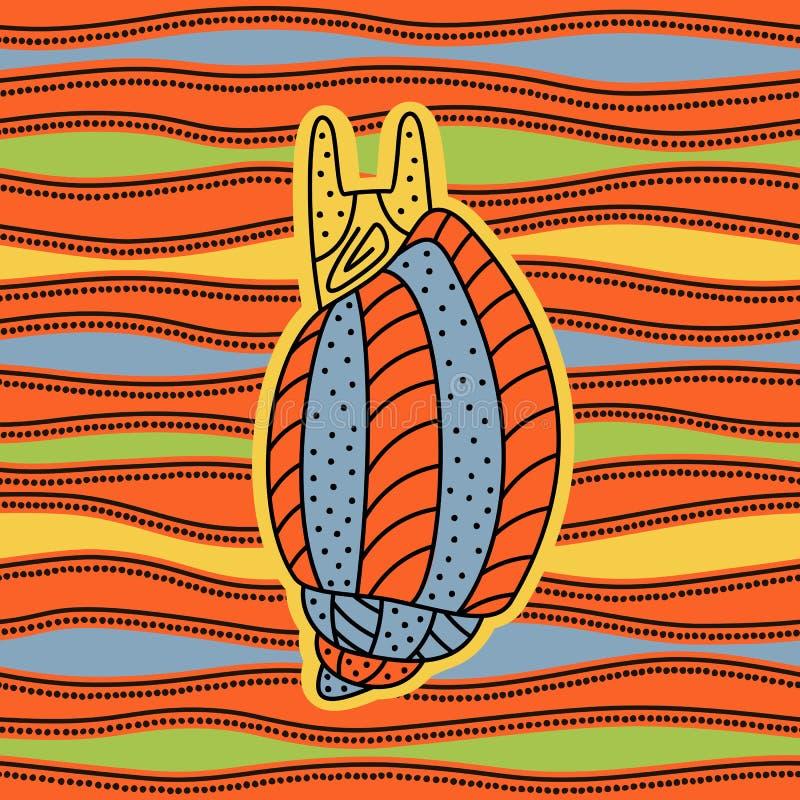 molusco ilustración del vector