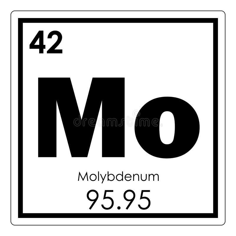 Molybdenum Chemical Element Stock Illustration Illustration 107766350