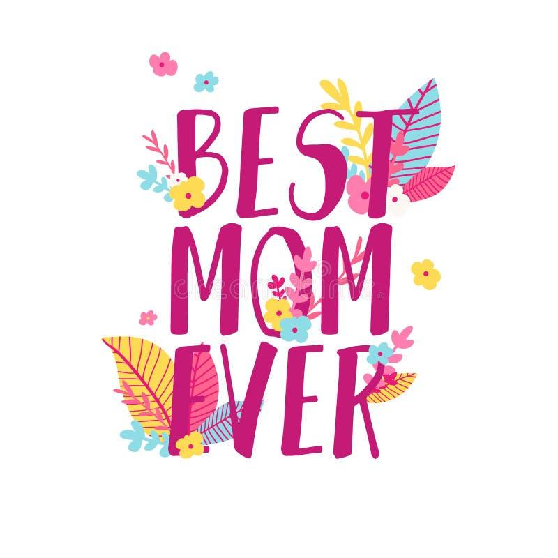 Σύγχρονο σχέδιο προτύπων για το έμβλημα ημέρας Mom Σχεδιάγραμμα προώθησης για την προσφορά ημέρας της μητέρας με τη διακόσμηση λο ελεύθερη απεικόνιση δικαιώματος