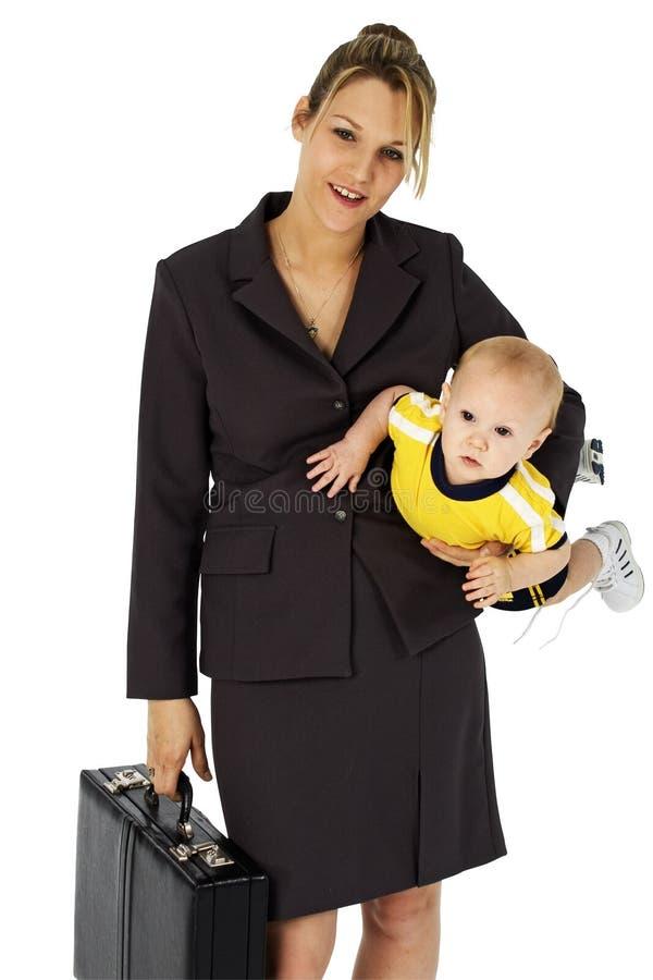 mom εργαζόμενος στοκ φωτογραφία με δικαίωμα ελεύθερης χρήσης