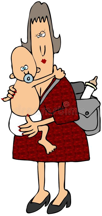 Mom And Baby vector illustration