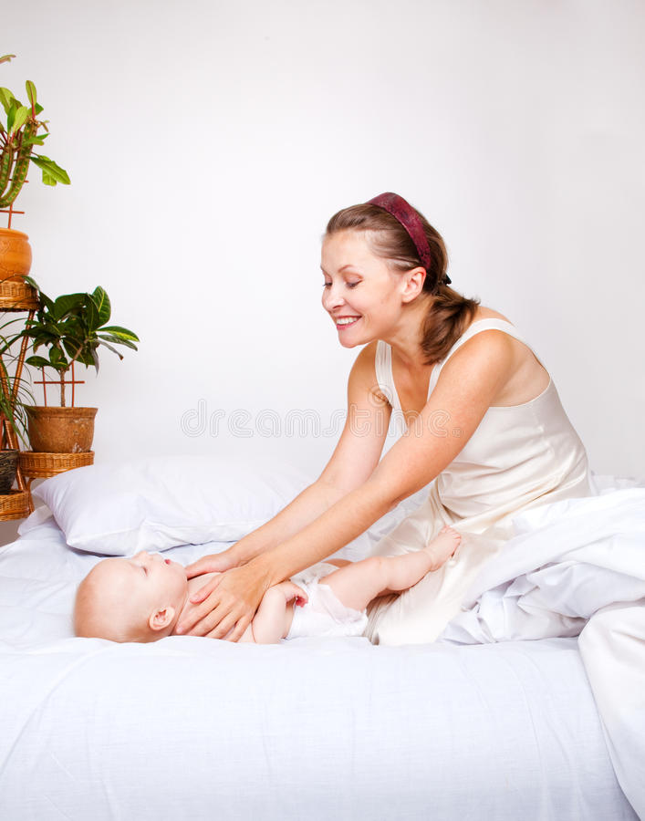 Mom and baby royalty free stock photography