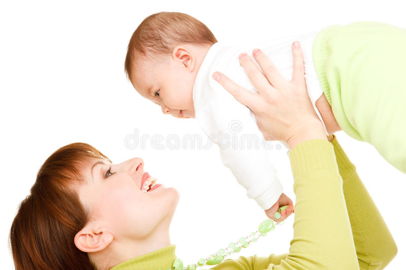 Download Mom and baby stock image. Image of infant, laughing, happiness - 13916971