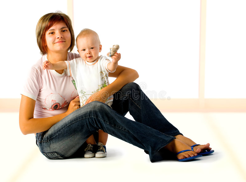 Download Mom And Baby stock photo. Image of inside, good, mother - 3037950