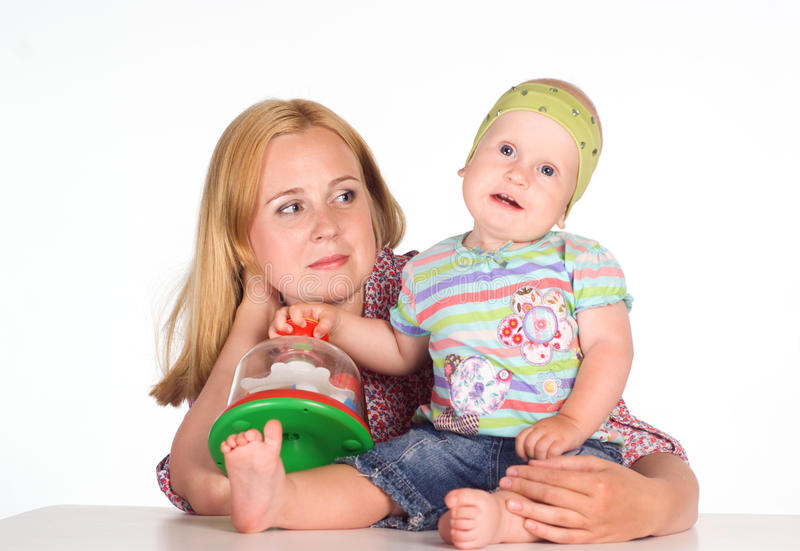 Download Mom with baby at table stock photo. Image of mother, looking - 20762704