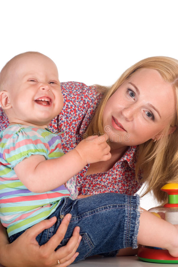 Download Mom and baby at table stock photo. Image of comfort, emotions - 20762734
