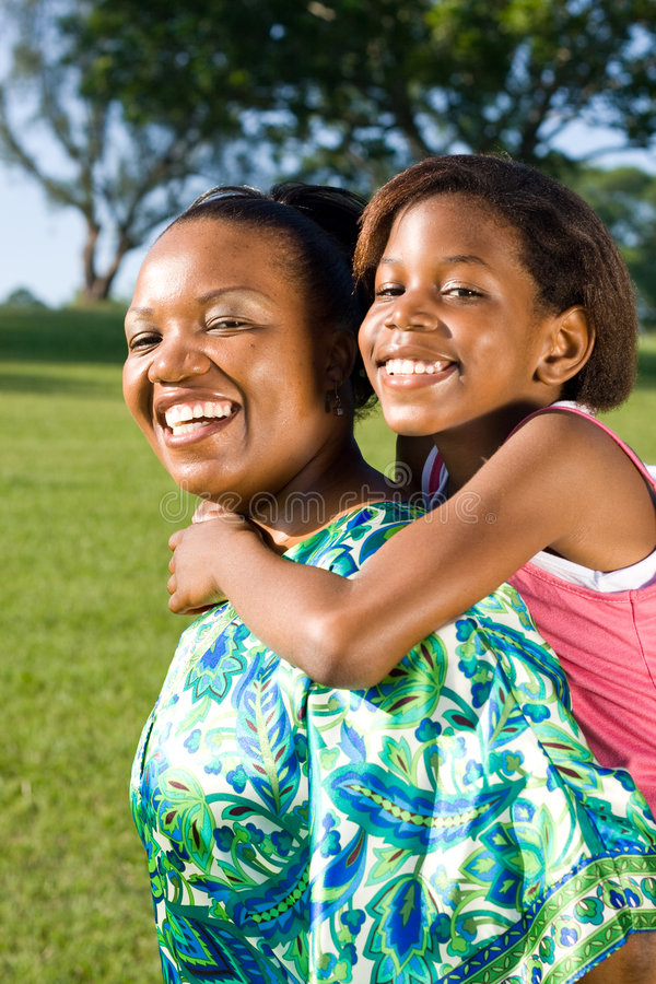 Mom and child. Happy african mom and child together royalty free stock photography