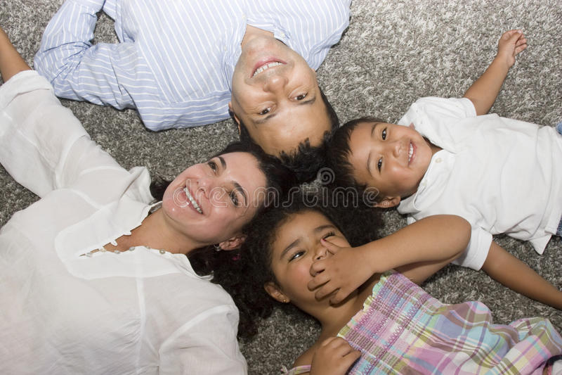 Download Mom And Dad Walking With Their Children Stock Photo - Image: 13149196