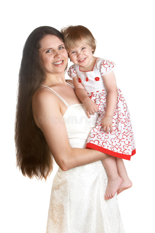 Download Mom and daughter stock image. Image of happy, hair, white - 22649105