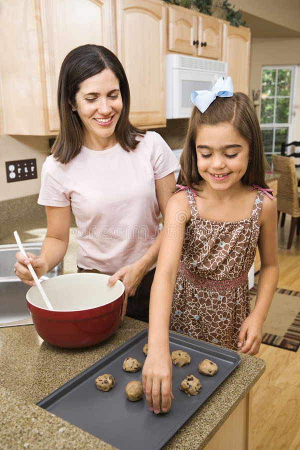 Mom and daughter. royalty free stock image