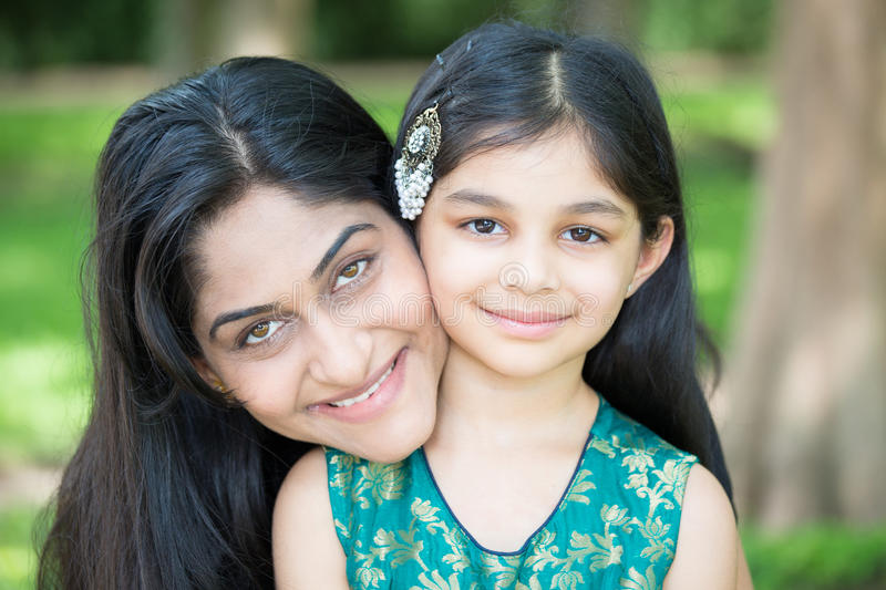 Mom and daughter royalty free stock photos