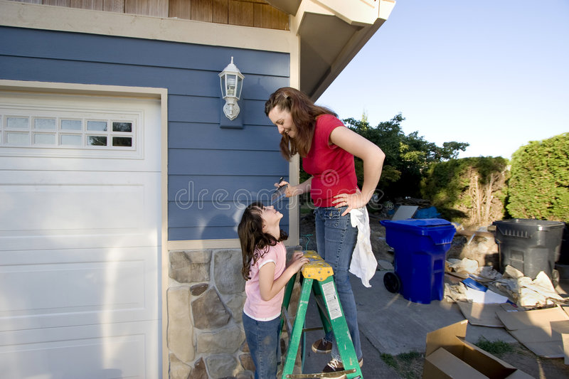 Download Mom And Daughter Painting - Horizontal Stock Image - Image: 5985193