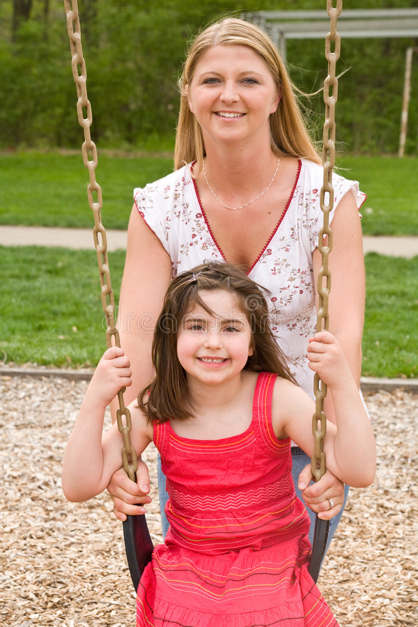 Download Mom and Daughter Playing stock photo. Image of couples - 5165550
