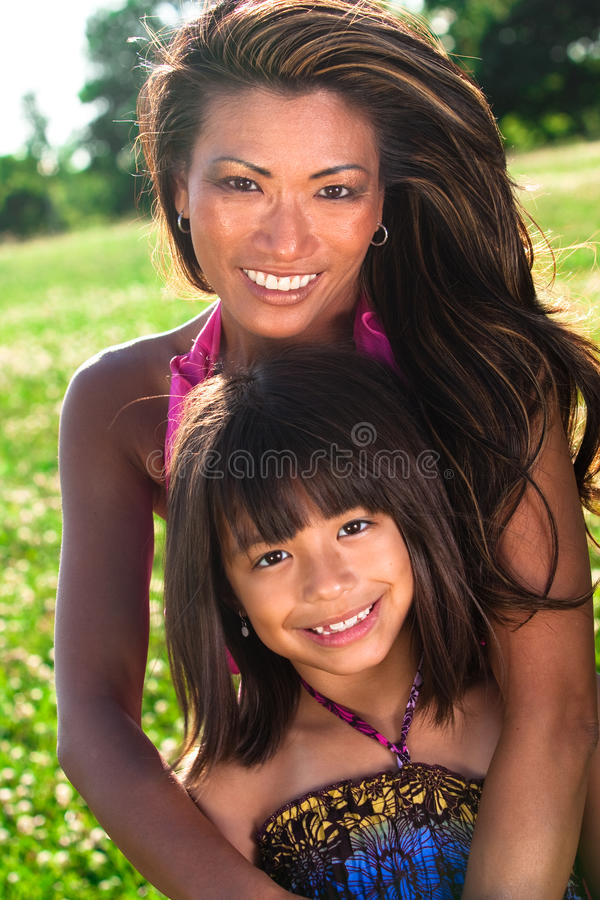 Mom And Daughter Posing Royalty Free Stock Photo