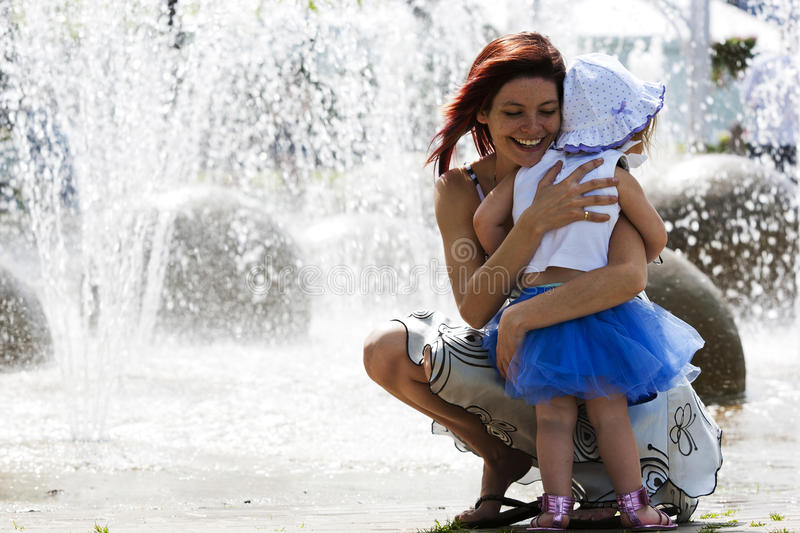 Download Mom And Daughter At Waterpark Stock Photo - Image: 20249182