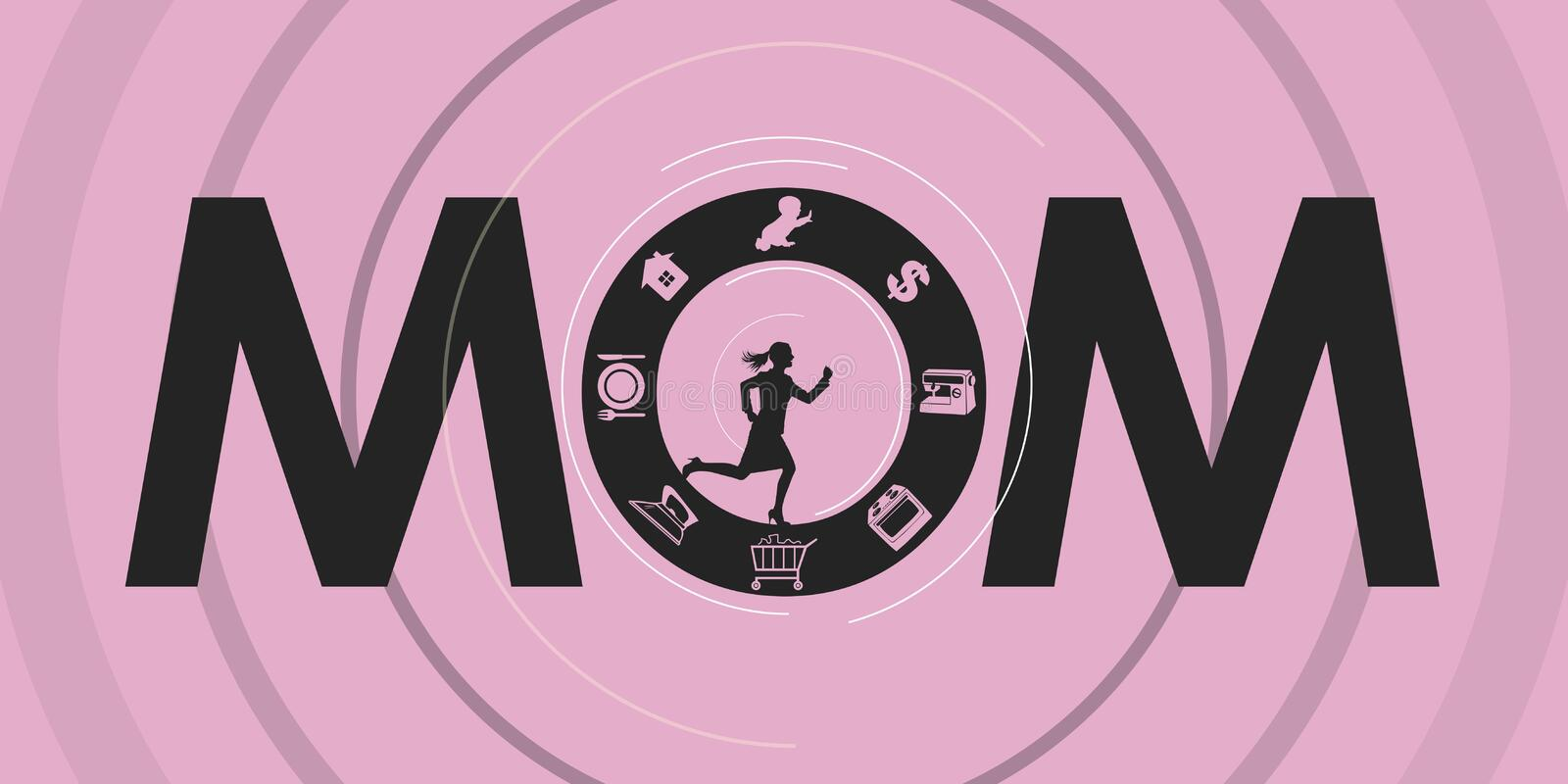 Mom. Have to do everything! Vector format