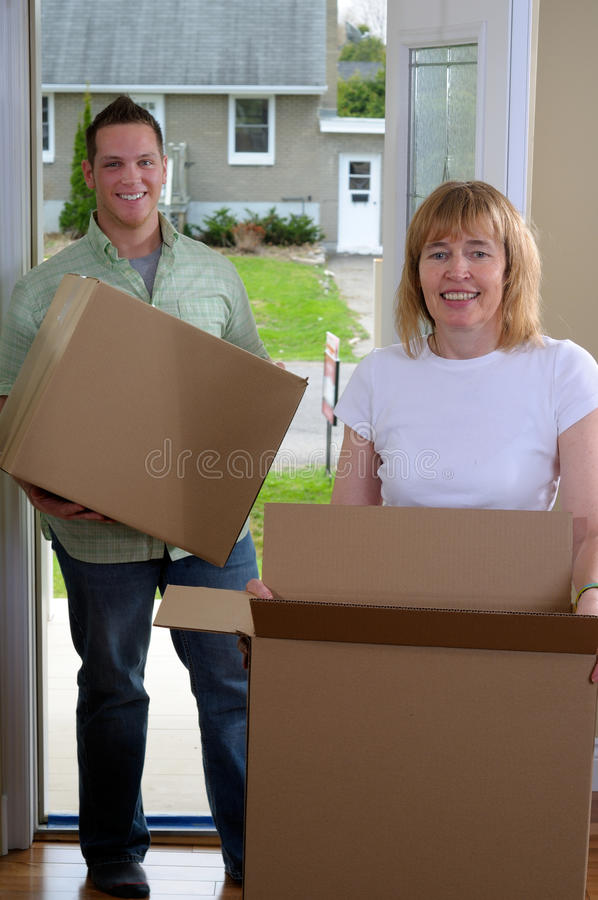 Download Mom Helping To Move stock image. Image of female, male - 23228931