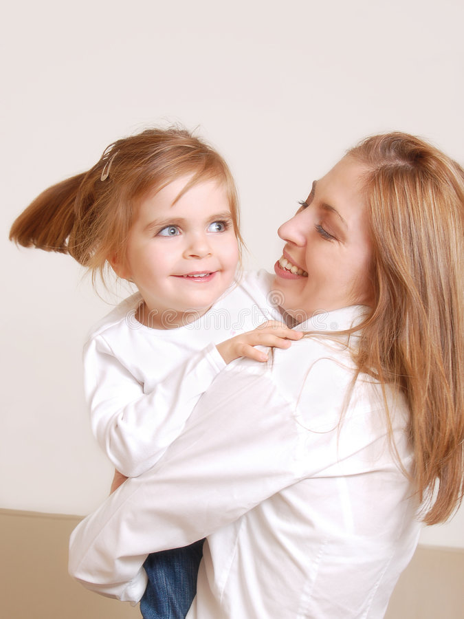Download Mom And Her Little Daughter Stock Image - Image: 1699895