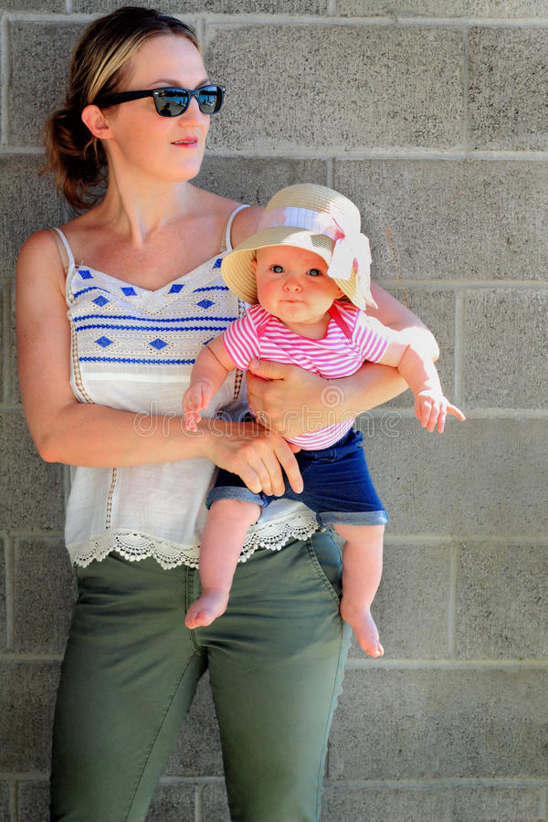 Mom Holds Young Baby royalty free stock images