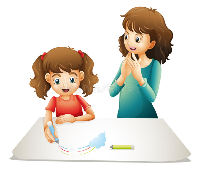 Download Mom and kid stock illustration. Image of together, person - 27648247