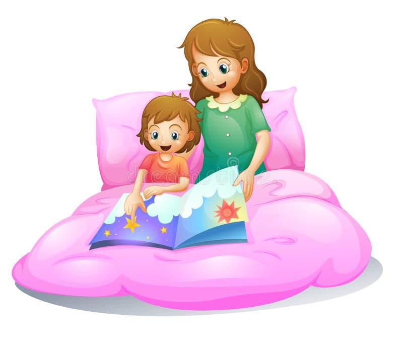 Mom and kid royalty free illustration